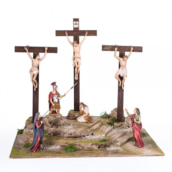 Kreuzigungsgruppe m.7 Figuren+ Sockel SH
