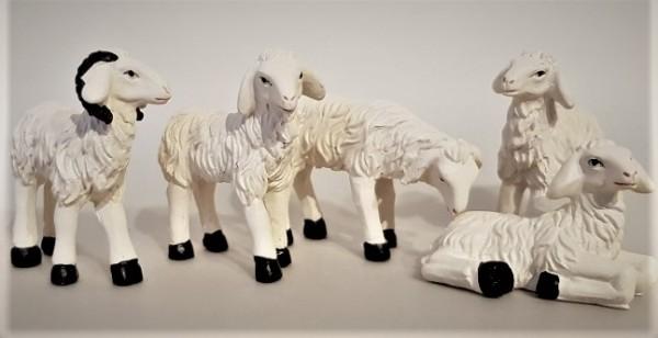 Schafe im Set aus Polyresin