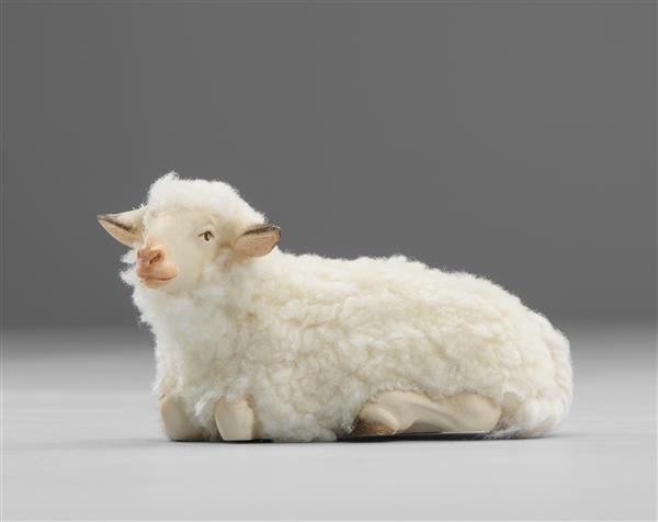 Schaf liegend mit Wolle Heide Nr. W3610E
