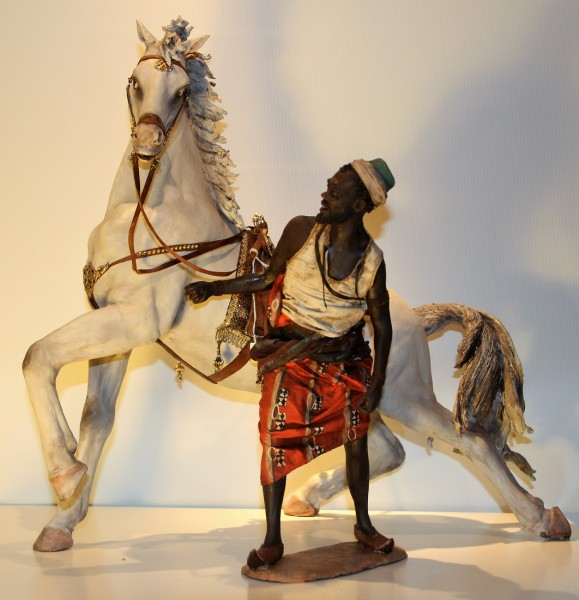 Pferd mit Pferdeführer Super von ANGELA TRIPI