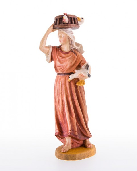 Frau mit Kaefig auf dem Kopf Nr. 37