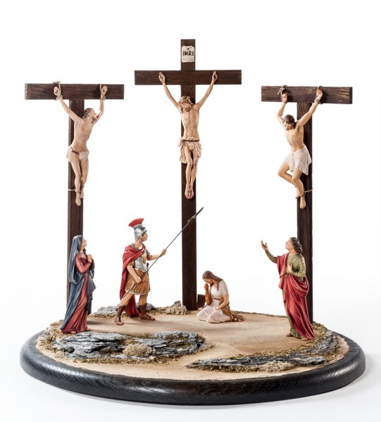 Kreuzigungsgruppe m.7 Figuren+ Sockel SE