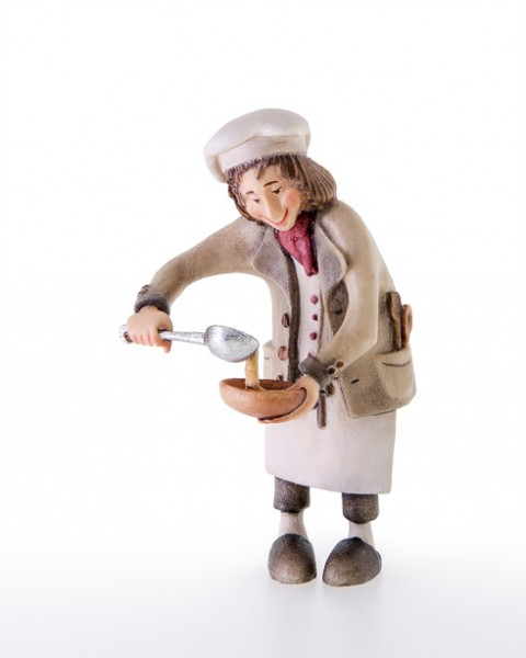 Koch mit Schöpflöffel und Suppenteller Nr. 65