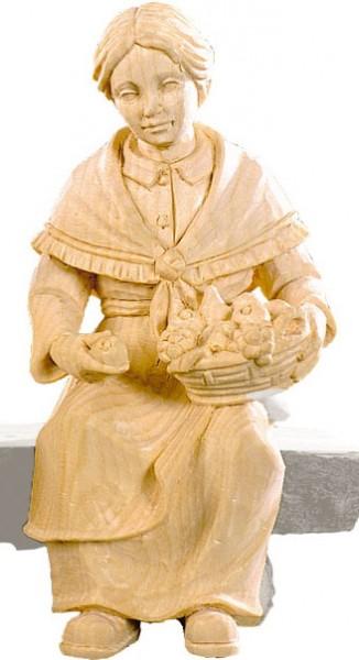 Hirtin sitzend mit Obstkorb Nr. 4427 15 cm