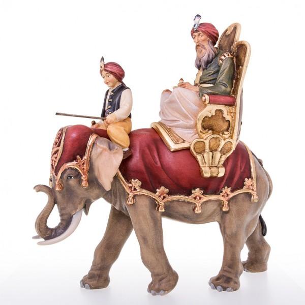 Koenig reitend mit Elefant und Treiber Nr. 96B