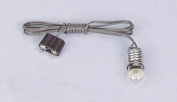 Fassung mit Kabel und Birne E5,5 und E10